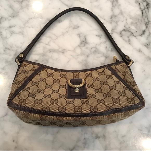e930c7f78 Gucci Bags | Brown Monogram Gg Canvas Dring Hobo Bag | Poshmark